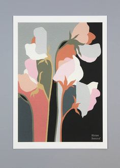Sweet Peas is a print of an original gouache painting - the lovely texture of the watercolour paper it was created on is evident in the reproduction. Artist Eloise Renouf in Nottingham, United Kingdom gouache painting Painting Inspiration, Art Inspo, Cuadros Diy, Arte Pop, Gouache Painting, Art Design, Watercolor Paper, Giclee Print, Modern Art