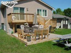 Grafton Split-Level Deck | Deck design, Decking and Deck plans