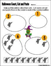 Preschool and kindergarten halloween math worksheet | Marvelous ...