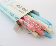 Parts number: 4531 ( the refills matches this pen is AIHAO - Erasable Gel Ink Rolling Ball Pe Japanese School Supplies, Cool School Supplies, Stationery Pens, School Stationery, Kawaii Stationery, Stationary Supplies, Art Supplies, Kawaii Pens, Cute Pens