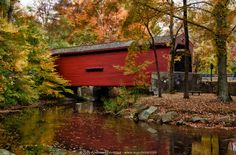 beautiful covered bridges | Beautiful Red Covered Bridge Somewhere in Vermont.