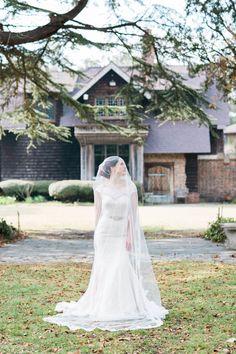 Romantic Virginia Bridal Portrait.  Hermitage Museum and Gardens. Photo: Marie Violet Photography