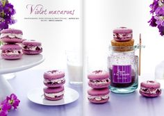 As soon as I get the violet sugar from France ( shown in the picture), I will make these gorgeous-looking macaroons.