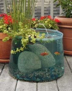 What a cool tank.. i will have to remember this idea.. it could b adapted to in the house too.