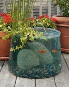 Un mini étang hors terre pour le jardin !