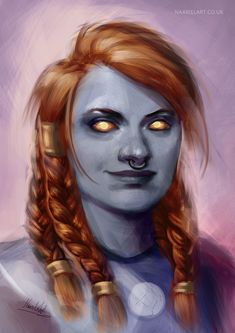 Bryna, the Dark Iron Dwarf [C] by Naariel on DeviantArt Fantasy Character Design, Character Concept, Character Inspiration, Character Art, World Of Warcraft Characters, Dnd Characters, Fantasy Characters, Fantasy Portraits, Character Portraits