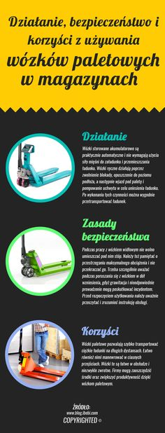 Wózki paletowe to niewielkie urządzenia transportowe, których użytkowanie przynosi firmom wiele korzyści, takich jak oszczędność kosztów, łatwa obsługa, duża zwrotność i możliwość szybkiego przewozu ładunków. Z tych powodów firmy powinny inwestować w zakup wózków paletowych i poprawiać swoją produktywność.    http://www.ajprodukty.pl/wozki-transportowe/wozki-paletowe/6212921.wf
