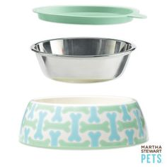 Martha Stewart Pets™ 3-Piece Bowl Set for Dogs - PetSmart