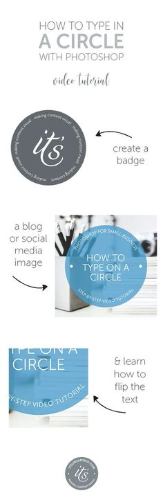 Have you ever seen text running around the edge of a circle or along a curved line? You may have seen it on a button or badge on an image, or on a blog or social media image. Today's video will introduce you to paths and show you how to create a circular badge for your website or social media images. itsorganised.com | photoshop video tutorials