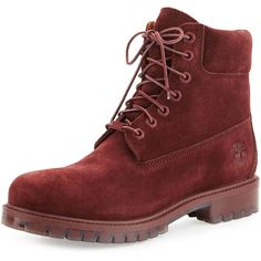 Timberland Autumn Leaf 6 Premium Waterproof Hiking Boot ($200) ❤ liked on Polyvore featuring men's fashion, men's shoes, men's boots, burgundy, mens water proof boots, mens round toe cowboy boots, mens waterproof shoes, mens lace up boots and timberland mens shoes