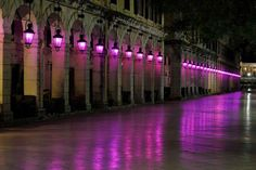 Corfu   Liston square at Easter     It is worth mentioning that at the beginning of the Holy Week, the Cross of the Old Fortress in Corfu town and the lanterns of Liston square are lit purple to set a mournful yet dreamy tone.