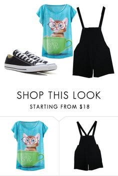 """I know places"" by hellokitty0508 ❤ liked on Polyvore featuring beauty, American Apparel and Converse"