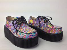 Smiley Face Unicorn Glitter Mega Platform by FeelingVagueVintage