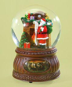 Another great find on #zulily! Santa Fireplace Musical Glitter Snow Globe #zulilyfinds