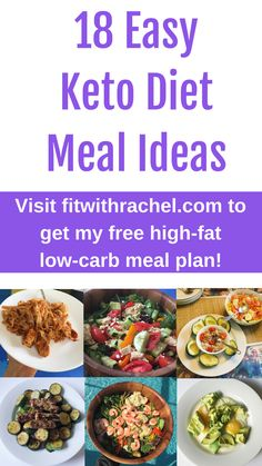 18 Easy Keto Diet Meal Ideas. I'm asked all the time what are some easy keto diet meal ideas…so I wanted to share some of what I eat with you! I'm not a chef and I'm busy (I even wrote The Busy Mom Cookbook because I legit don't spend a ton of time cooking). These meals are all easy peasy to make and require minimum time. Repin and be sure to grab my free keto meal plan while you're here! Free Keto Meal Plan, Low Carb Meal Plan, Ketogenic Diet Meal Plan, Diet Meal Plans, Diet Snacks, Clean Eating Snacks, Healthy Snacks, Diet Meals, Healthy Protein