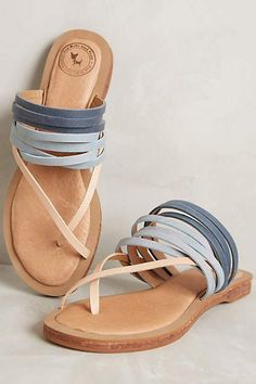 Gee Wawa Meadow Sandals / baby blue strappy sandals for spring and summer