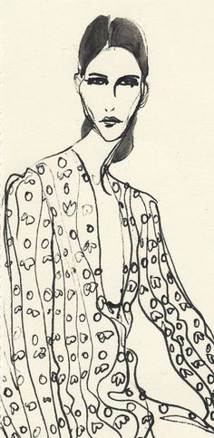 The fluidity and form of Rosie McGuinness's oeuvre of work is one that marries both the approach to classical fashion drawing, conjuring the. Magazine Illustration, Cute Illustration, Graphic Design Illustration, Ink Illustrations, Grafik Design, Art Inspo, New Art, Fashion Art, Art Drawings