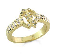 Simple Gye Nyame Ring With Diamonds African Adinkra Band Gye Nyame Ring k Yellow Gold