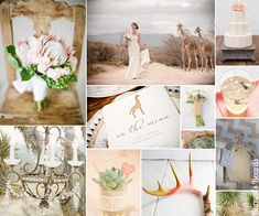 {safari chic} fresh and modern take on a safari themed wedding in light pink and dusty browns.