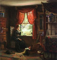 Memories by Edward Lamson Henry, 1873. @@@.....http://www.pinterest.com/mashrie/art5-town-house-people/