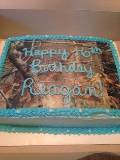 Great birthday cake ideas for teens who aren't super girly and love camo!!