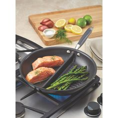 "Anolon Advanced 12.5"" Non-Stick Divided Grill and Griddle Pan"