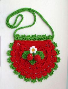 Вязаные сумочки для девочек. Чудесная сумочка для девочек