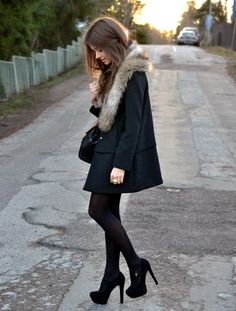 nothing like all black, and a little fur...