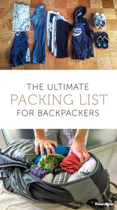What to Pack: The Ultimate Packing List for Backpackers Wondering what to pack for your upcoming trip? We've got the ultimate packing list with everything you'll ever need! Use this packing list to prepare for your travels. Ultimate Packing List, Packing List For Vacation, Camping Packing, Backpacking Europe, Camping Checklist, Travel Packing, Travel Hacks, Camping Tips, Packing Lists