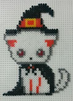 Halloween cat perler beads by CielHargreaves on deviantART