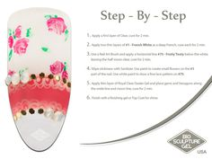 Pink flowers step-by-step Bio Sculpture Nails, Flower Step By Step, Nail Art Brushes, Nail Art Galleries, Fun Nails, Nail Ideas, Makeup Ideas, Pink Flowers, The Cure