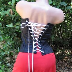 Gothic Boned Black Corset by TheBohemianGoddess on Etsy, $28.00