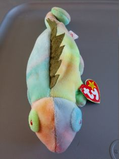 327df6360c2 Iggy the Iguana - Tie-Dye - Ty Beanie Babies - 1997 by LabArcDesigns on.  Etsy