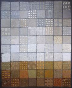 Landscape # 80. 2014 by Yuri Yudaev Acrylic on paper, 31.5 × 25.2 cm.  Artist's collection. #minimalism #structure #colorscale #yuriyudaev
