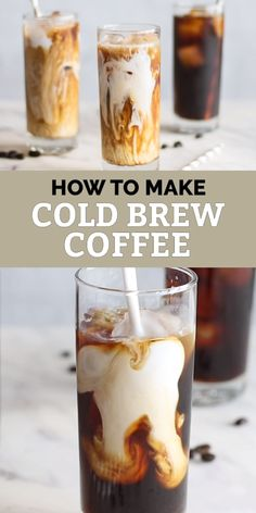 Enjoy a delicious cold brew coffee this summer, and save money by skipping the coffee shops. For the best glass, the recommended Cold Brew Coffee Ratio is explained, so you can choose to enjoy your co Best Iced Coffee, Iced Coffee Drinks, Coffee Drink Recipes, Easy Coffee, Starbucks Recipes, Starbucks Drinks, Coffee Coffee, Recipe For Iced Coffee, Cold Brew Coffee Recipe Starbucks