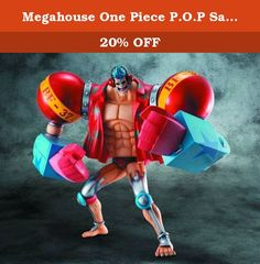 """Megahouse One Piece P.O.P Sailing Again Maximum Armored Franky Ex Model Figure. The P.O.P One Piece """"Sailing Again"""" series will finally come out with the """"MAXIMUM"""" specification packed with a boy's man who is the one-time vessel ship ? Frankie! The large body boasting the volume of the series the most is a powerful full mark! It is! In addition to abundant replacement parts such as hairstyle and expression, fist, plus other major parts such as neck, shoulder, elbow, waist, etc., it is..."""
