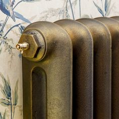 Beaten Brass paint for cast iron radiators Old Radiators, Bathroom Radiators, Cast Iron Radiators, Brass Bathroom, Painted Radiator, Painted Doors, Victorian Hallway, Neutral Paint, Paint Effects