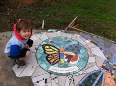 Dedicated to Jackson. This beautiful butterfly paver. Project Butterfly memorial pathway