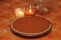 A delicious lactose-free pumpkin pie.