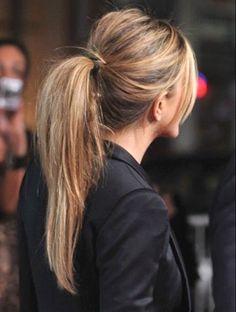 Hair hair love her hair makeup and hairstyle Stylish Ponytail, Perfect Ponytail, Messy Ponytail, Ponytail Styles, Messy Lob, Messy Hair, Long Ponytails, Summer Hair, Bridal Hair