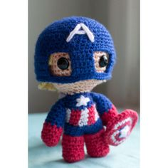 Captain America (Avengers) Amigurumi Plush Doll PATTERN ($7) ❤ liked on Polyvore