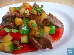 Kuřecí játra na tymiánu s jablky / apple and thyme chicken liver