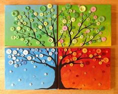This homemade colorful button tree wall art project will be .This home-made colorful button tree wall art project is done in this step by . colorful button this this homemade Crafts Made with Buttons Fun Crafts, Crafts For Kids, Arts And Crafts, Resin Crafts, Colorful Crafts, Cork Crafts, Button Tree Art, Button Wall Art, Button Canvas Art