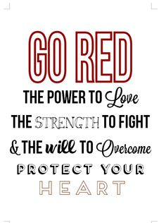 February Go Red; Heart Health Awareness Month - February Go Red; February Awareness Month, Heart Awareness Month, Heart Health Month, Heart Month, Hello February Quotes, Oh My Heart, American Heart Association, Go Red, Health Quotes