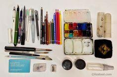 Liz Steel: Current Sketching Tools http://www.lizsteel.com/p/current-sketching-tools.html