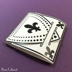 Mini Notepads Fleur-de-lis Gift Notebook 15 Sheets Matchbook Party Favor Folding Cover 4 Folded Wedding Favor