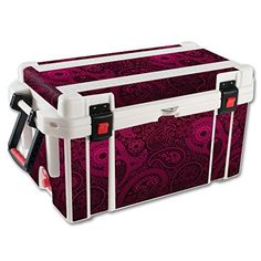 MightySkins Protective Vinyl Skin Decal for Pelican 65 qt Cooler wrap cover sticker skins Paisley * More info could be found at the image url.(This is an Amazon affiliate link and I receive a commission for the sales)