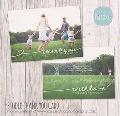 Studio Thank You Card   Photoshop template  von PaperLarkDesigns