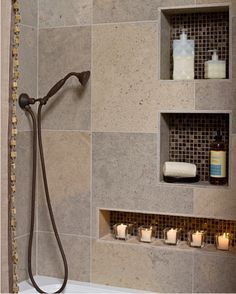 30 Ideas To Use Storage Niches In A Bathroom | Shelterness  http://www.shelterness.com/30-ideas-to-use-storage-niches-in-a-bathroom/