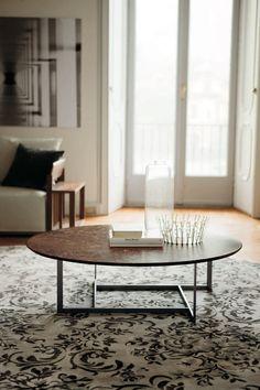 LONDRA by Opera Design - Contemporary coffee table / metal / marble / rectangular by Porada Round Coffee Table, Coffee Table Design, Design Furniture, Modern Furniture, Contemporary Coffee Table, Marble Top, Design Awards, Inspiration, Living Room